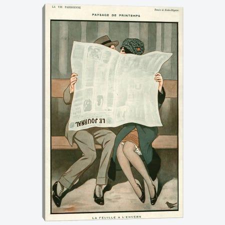 1920s La Vie Parisienne Magazine Plate Canvas Print #TAA325} by Joseph Kuhn-Regnier Canvas Art Print