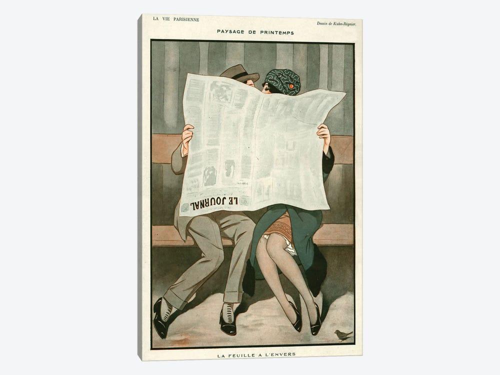 1920s La Vie Parisienne Magazine Plate by Joseph Kuhn-Regnier 1-piece Canvas Artwork