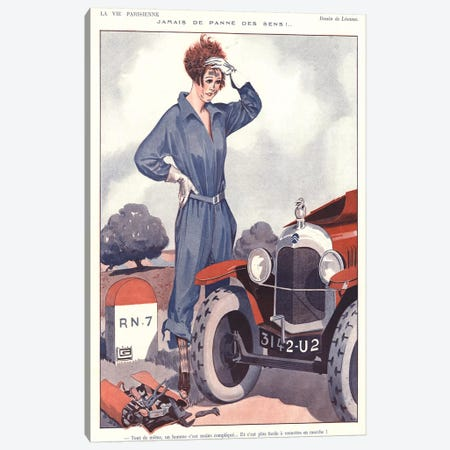 1920s La Vie Parisienne Magazine Plate Canvas Print #TAA326} by The Advertising Archives Art Print