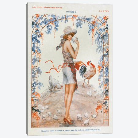 1920s La Vie Parisienne Magazine Plate Canvas Print #TAA327} by The Advertising Archives Art Print