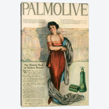 1920s Palmolive Shampoo Magazine Advert Canvas Print #TAA335} by The Advertising Archives Canvas Wall Art