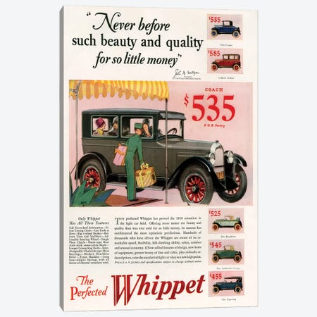1920s Willys-Knight Magazine Advert Canvas Print #TAA337} by The Advertising Archives Canvas Art