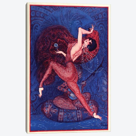 1921 La Vie Parisienne Magazine Plate Canvas Print #TAA340} by Armand Vallee Canvas Art