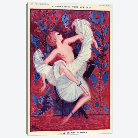 1921 La Vie Parisienne Magazine Plate Canvas Print #TAA341} by Armand Vallee Canvas Art