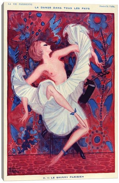 1921 La Vie Parisienne Magazine Plate Canvas Art Print