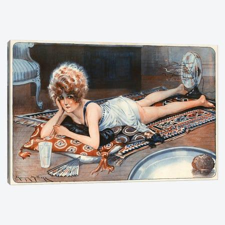 1921 La Vie Parisienne Magazine Plate Canvas Print #TAA343} by Maurice Milliere Canvas Wall Art