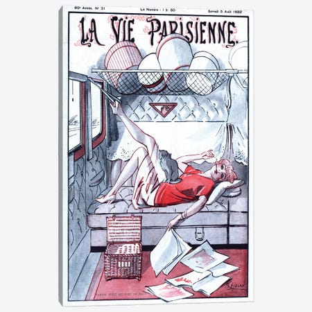 1922 La Vie Parisienne Magazine Cover Canvas Print #TAA345} by The Advertising Archives Canvas Print