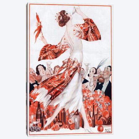 1922 La Vie Parisienne Magazine Plate Canvas Print #TAA347} by Armand Vallee Canvas Art Print