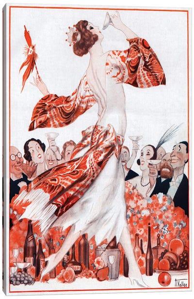 1922 La Vie Parisienne Magazine Plate Canvas Art Print