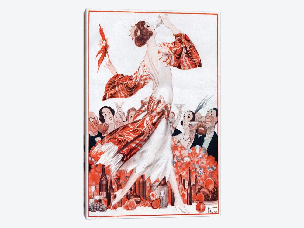 1922 La Vie Parisienne Magazine Plate by Armand Vallee 1-piece Canvas Wall Art