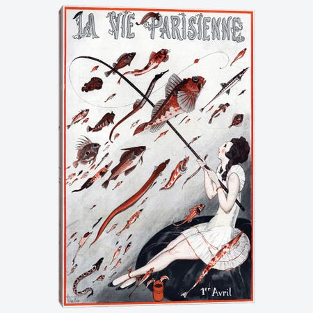 1923 La Vie Parisienne Magazine Cover Canvas Print #TAA348} by Armand Vallee Canvas Artwork