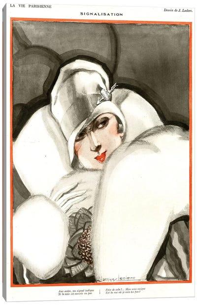 1920s La Vie Parisienne Magazine Plate Canvas Art Print