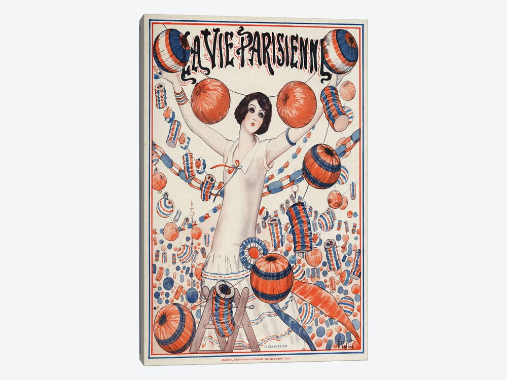 1924 La Vie Parisienne Magazine Cover by Armand Vallee 1-piece Canvas Print