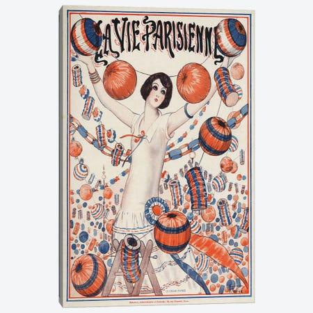1924 La Vie Parisienne Magazine Cover Canvas Print #TAA351} by Armand Vallee Canvas Art Print
