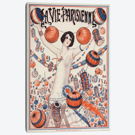 1924 La Vie Parisienne Magazine Cover Canvas Print #TAA351} by Armand Vallee Canvas Art Print