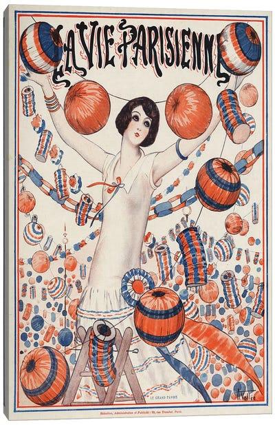 1924 La Vie Parisienne Magazine Cover Canvas Art Print