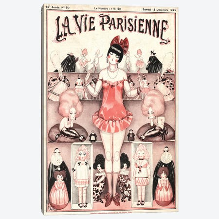 1924 La Vie Parisienne Magazine Cover Canvas Print #TAA353} by The Advertising Archives Art Print