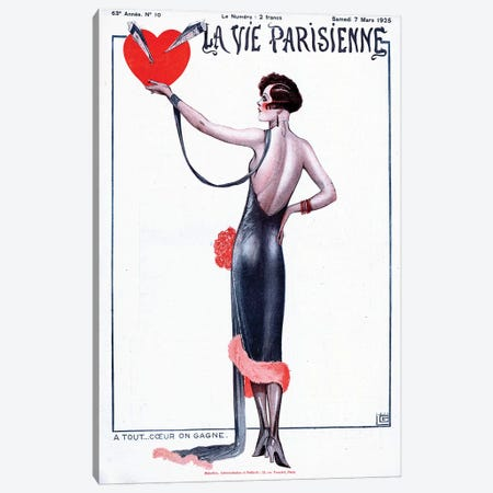 1925 La Vie Parisienne Magazine Cover Canvas Print #TAA356} by Georges Leonnec Canvas Art