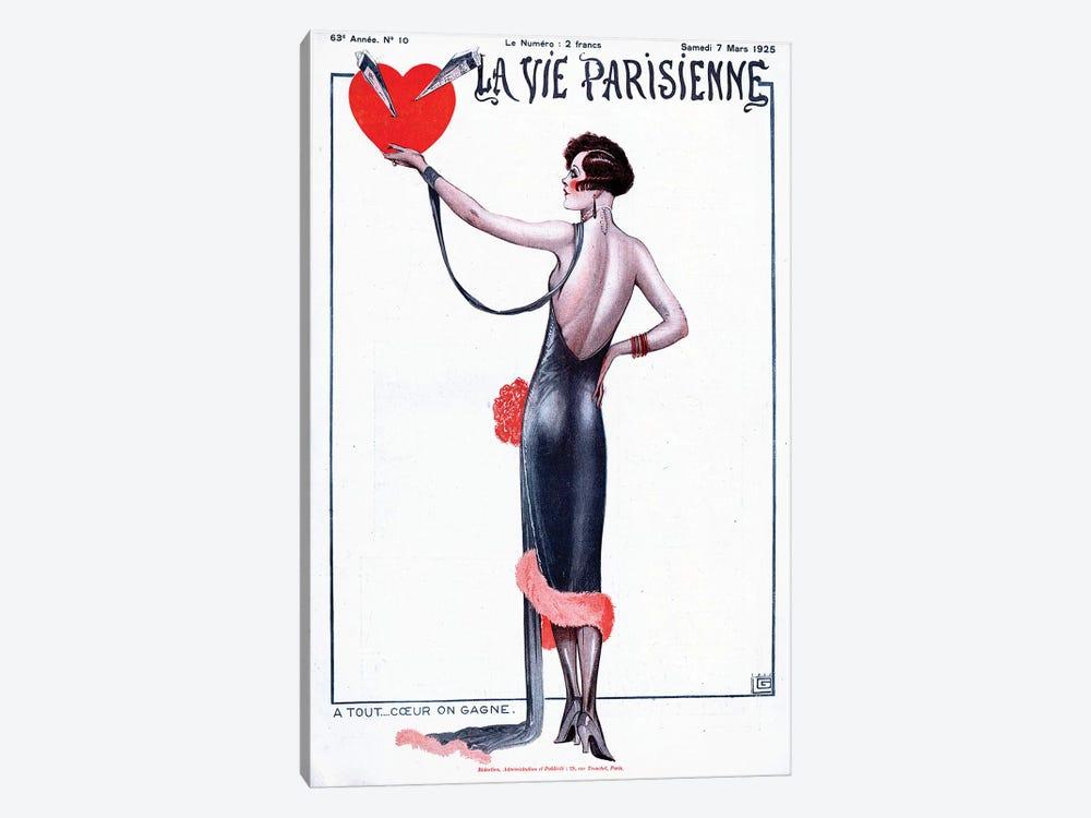 1925 La Vie Parisienne Magazine Cover by Georges Leonnec 1-piece Canvas Wall Art