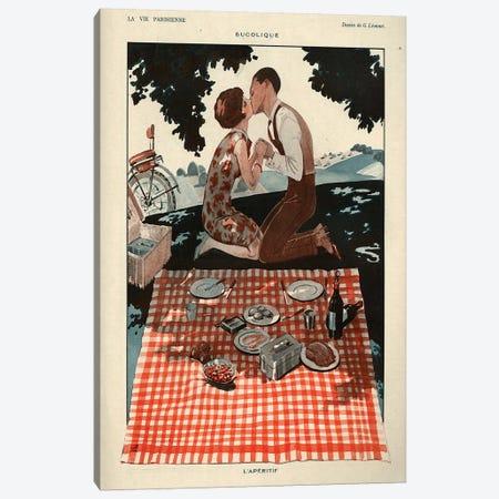 1926 La Vie Parisienne Magazine Plate Canvas Print #TAA361} by Georges Leonnec Canvas Artwork