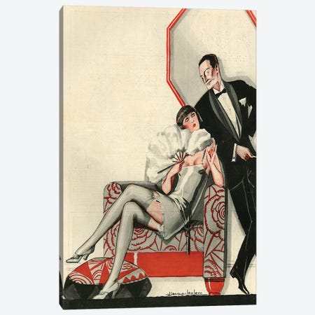 1926 La Vie Parisienne Magazine Plate Canvas Print #TAA362} by Julien Jacques Leclerc Canvas Artwork