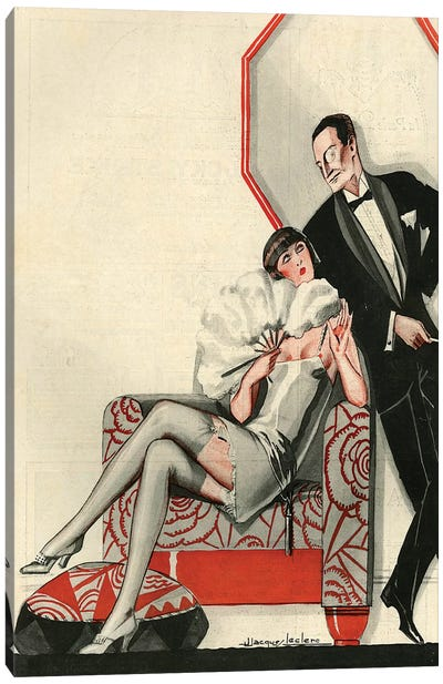 1926 La Vie Parisienne Magazine Plate Canvas Art Print