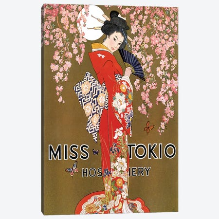1927 Miss Tokio Hosiery Magazine Advert Canvas Print #TAA365} by The Advertising Archives Canvas Art Print