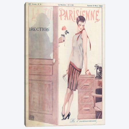 1928 La Vie Parisienne Magazine Cover Canvas Print #TAA366} by The Advertising Archives Canvas Art Print