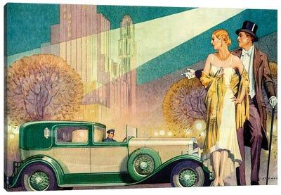 1929 Franklin Magazine Advert Detail Canvas Art Print