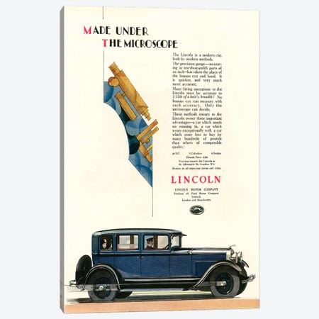 1929 Lincoln Magazine Advert Canvas Print #TAA371} by The Advertising Archives Art Print