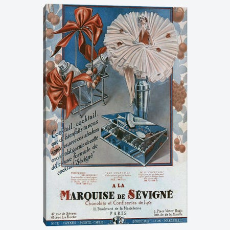1929 Marquise de Sevigne Canvas Print #TAA372} by The Advertising Archives Canvas Art Print