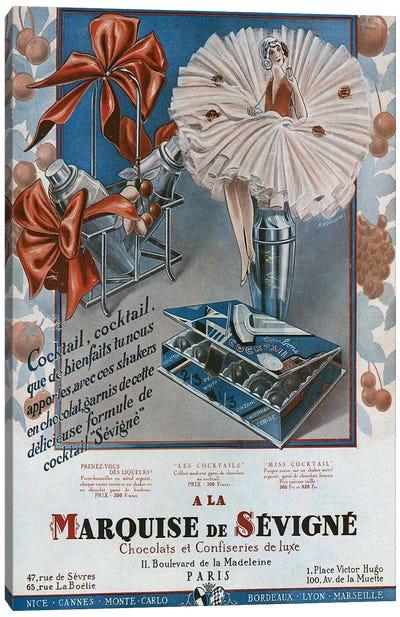 1929 Marquise de Sevigne Canvas Art Print