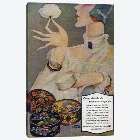 1929 Spain Perfumeria Cosmetics Magazine Advert Canvas Print #TAA374} by The Advertising Archives Canvas Wall Art