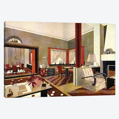 1930s Art Deco Interior Canvas Print #TAA376} by The Advertising Archives Canvas Artwork
