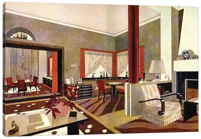 1930s Art Deco Interior Canvas Art Print