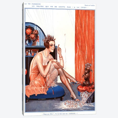 1920s La Vie Parisienne Magazine Plate Canvas Print #TAA37} by The Advertising Archives Canvas Art Print
