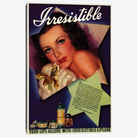 1930s Irresistible Perfume Magazine Advert Canvas Print #TAA380} by The Advertising Archives Canvas Artwork
