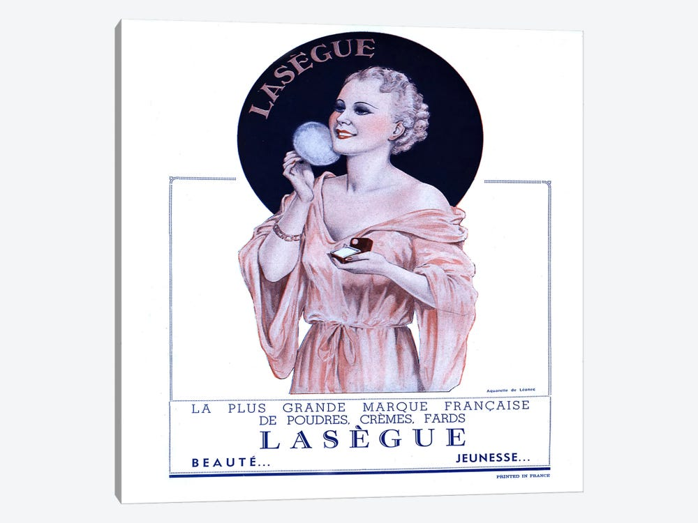 1930s Lasegue Cosmaetics Magazine Advert by The Advertising Archives 1-piece Canvas Print