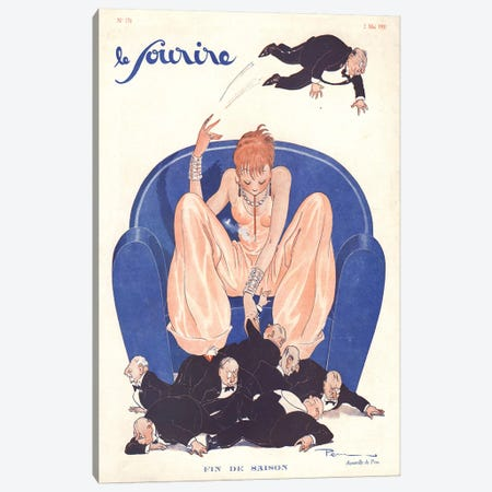 1931 Le Sourire Magazine Cover Canvas Print #TAA389} by Pem Canvas Artwork
