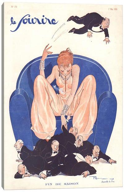 1931 Le Sourire Magazine Cover Canvas Art Print