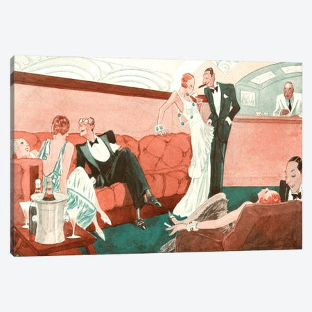 1920s La Vie Parisienne Magazine Plate Canvas Print #TAA38} by The Advertising Archives Canvas Wall Art