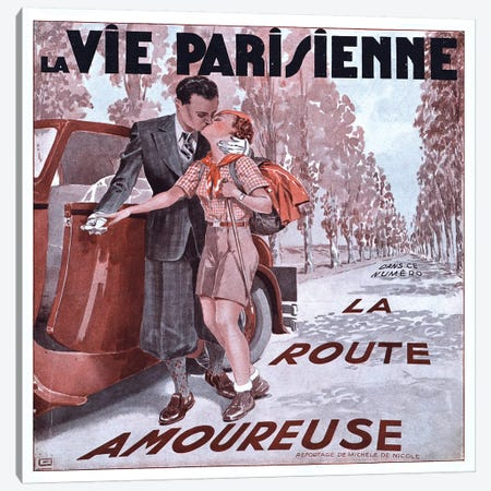 1936 La Vie Parisienne Magazine cover Canvas Print #TAA393} by The Advertising Archives Canvas Print