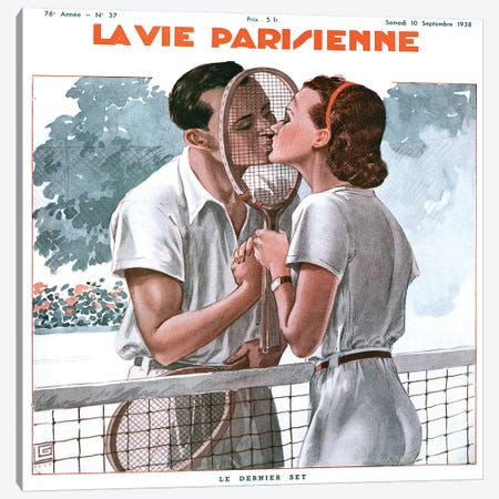 1938 La Vie Parisienne Mahazine Cover Canvas Print #TAA394} by The Advertising Archives Canvas Wall Art