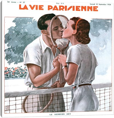 1938 La Vie Parisienne Mahazine Cover Canvas Art Print