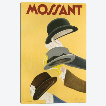 1938 Mossant Hats Poster Canvas Print #TAA395} by The Advertising Archives Canvas Art