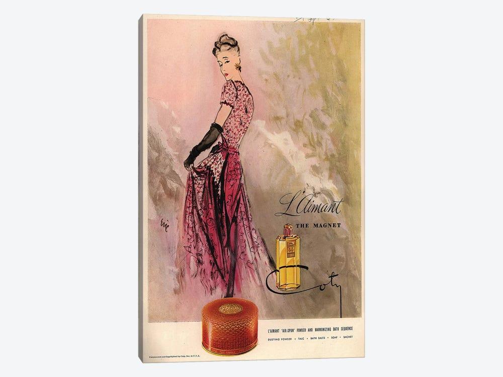 1940s Coty Perfume Magazine Advert by Carl Erickson 1-piece Canvas Artwork
