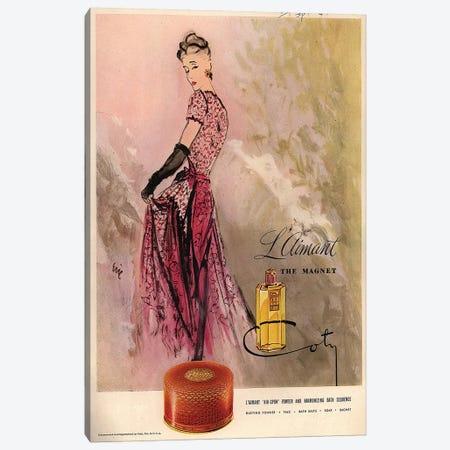 1940s Coty Perfume Magazine Advert Canvas Print #TAA398} by Carl Erickson Canvas Print
