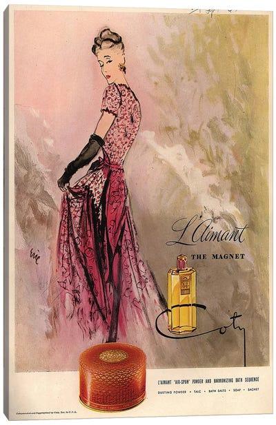 1940s Coty Perfume Magazine Advert Canvas Art Print