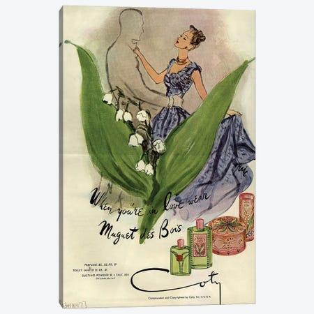 1940s Coty Perfume Magazine Advert Canvas Print #TAA399} by Carl Erickson Canvas Art Print