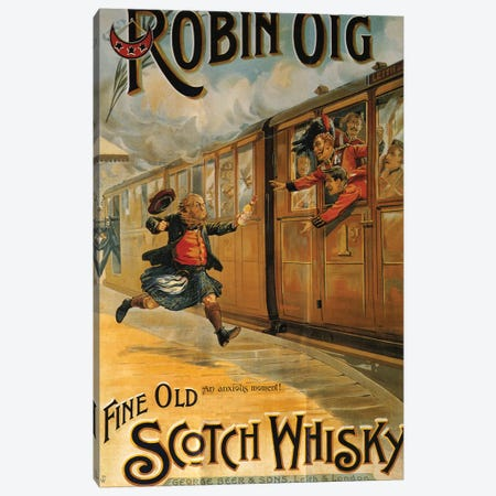 1898 Robin Oig Whisky Advert Canvas Print #TAA3} by The Advertising Archives Art Print
